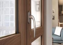 Finestra a due ante alluminio legno